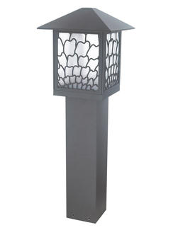 Classic Modern Garden Decorative Square Bollard Light