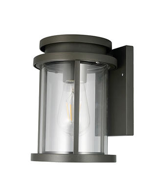 Black Cylindrical Metal Wall Lamp 1611