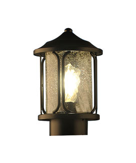 outdoor fence pier mounting pillar lamp